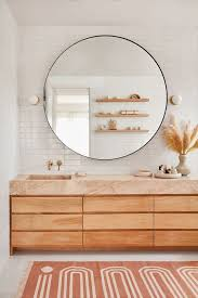 large round mirrors for an edgy touch