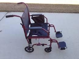 image is loading medline walgreens ultra light transport wheelchair burgundy slightly