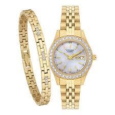 watches h samuel citizen ladies crystal watch bracelet set product number 2308851