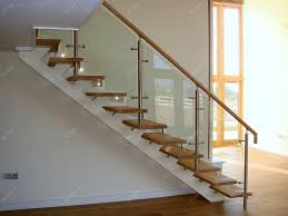 wood railing with glass inserts green home stair design ideasimage of wood railing with glass inserts