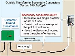 transformer secondary conductors electrical construction Transformer Disconnect Wiring Diagram transformer secondary conductors electrical construction & maintenance (ec&m) magazine 60 Amp Disconnect Wiring Diagram