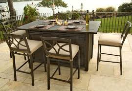 fire pit dining table bar height fire pit table set attractive dining with round patio intended