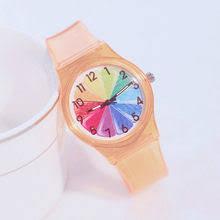 Buy <b>Transparent Clock Silicon</b> Watch online