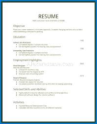 Free Work Experience Sample Resume College Student Little Work Experience For First Job