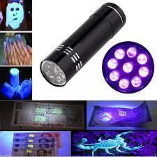 Çok fonksiyonlu yeni nakit kontrol UV ultraviyole el feneri 9 LED el feneri  ile açık kamp halat mağazası temel ekipman Money Counter/Detector