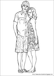 Small Picture High School Musical Educational Fun Kids Coloring Pages and