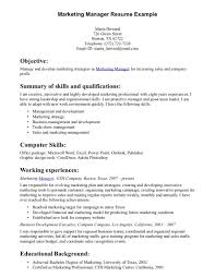 Marketing Skills In Resume Resume For Your Job Application