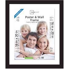 Mainstays 20x24 Matted to 16x20 Wide Gallery Poster and Picture Frame, Black - Walmart.com