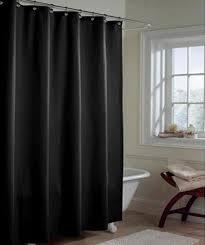 black shower curtains. Solid BLACK Microfiber Shower Curtain Or Liner Black Curtains I
