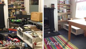 de clutter decluttering and organising homes in north london