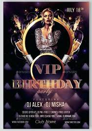 Birthday Flyer Templates Free Custom Birthday Flyers Flyer Template Free Vector Inside Templates Multiple