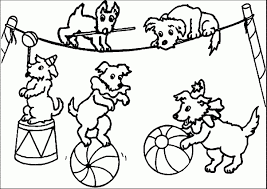 circus coloring pages for preschool in fancy paint printables on circus coloring pages