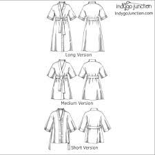 Kimono Robe Pattern Gorgeous Klassic Kimono Robe Sewing Pattern From Indygo Junction IndygoJunction