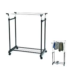 Mainstays Coat Rack Interesting Adjustable 32 Tier Rolling Garment Rack Design Mainstays Chrome And