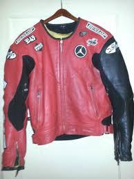 joe rocket michael air jordan 23 leather red black motorcycle jacket 42 large l