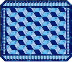 Tumbling Blocks & Here's one possible quilt layout, with pieced borders. Adamdwight.com