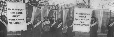 the progressive era to the new era the gilder lehrman  members of the national w s party picket the white house library of congress
