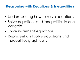 reasoning with equations inequalities