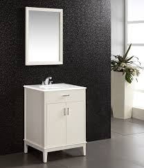 white bathroom vanities with drawers. White Metal Vanity With Drawer And Solid Countertop Sink Under Framed Mirror For 24 Bathroom Vanities Drawers O