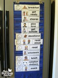 Displaying Visual Summer Schedule In Pocket Chart This