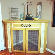 dog crate corner mantel homemade indoor kennel build stylish