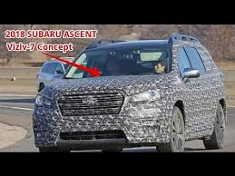 2018 subaru ascent spied. brilliant 2018 2018 subaru ascent three row crossover suv spotted showing off its shape   viziv 7 concept to subaru ascent spied