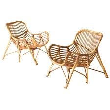 bamboo rattan chairs. Rattan Chair Lounge Elegant Danish Bamboo And Wicker Chairs By Laurids Lonborg For Sale O