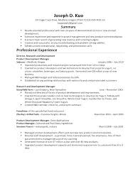 Sample Fast Food Resume