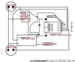 automatic inverter and mains supply changeover circuit circuits diy rh circuitsdiy com rv inverter wiring diagram manual rv inverter wiring diagram