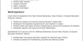 Preschool Teacher Sample Resume 30385 Life Unchained
