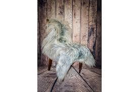 natural grey icelandic long haired sheepskin rug photo