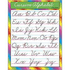 Cursive Letters Chart Cursive Alphabet Writing School Poster
