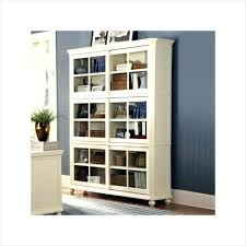 wood bookcase with glass doors bookshelf sliding designing home furniture white wooden book cabinet solid bookshelves