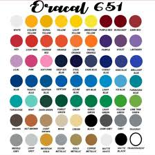651 Color Chart Oracal 651 All Colors Bundle Pack