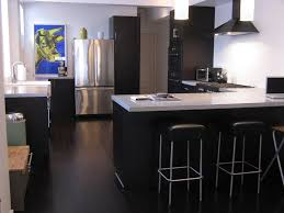 bathroom bamboo flooring. Black Kitchen Island Design With Modern White Stain Stools And Dark Bambooo Flooring Style Beneath Bathroom Bamboo E