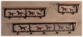 Horse Coat Rack Iron Wood Industries wc100 Horse Coat Hook Shelving wall hung 96