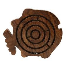 Wooden Maze Games Wooden Fish Game Toys Labyrinth Balls In Maze Puzzle ShalinCraft 38