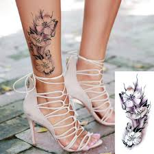 3pcs Fake Flowers Temporary Tattoo Stickers Waterproof Sex Arm Shoulder Leg Tattoo Girls Women