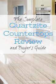white quartzite countertops in modern kitchen design text overlay quartzite countertops review er s