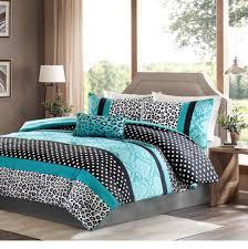 White And Turquoise Bedroom Girls Bedding Set Kids Teen Comforter Turquoise Black White