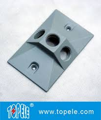 china oem vertical aluminum rectangular weatherproof electrical boxes cover supplier