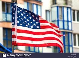 American Flag Office Buildings Stock Photos American Flag Office