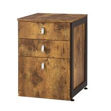 Coaster Company Antique Nutmeg Wood/ Metal File Cabinet - Free Shipping  Today - Overstock.com - 19047381