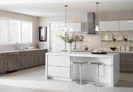 Worthen Laminate Kitchen Cabinets In Elk With A White Island To Go Charlotte84