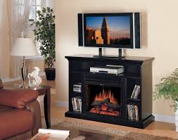 com classic flame beverly electric fireplace and tv stand in espresso home kitchen