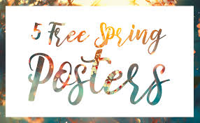 5 Free Spring Poster Templates Salon Prints One Stop