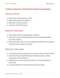 barilla spa case study 4 distributors 4 s people 5 barilla 5 3