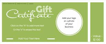 gift card template gift certificate template with logo