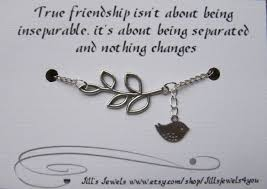 Quotes About Friendship Long Distance Best Friend Long Distance Friendship Charm Bracelet with 45