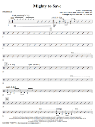 drum set sheet music mighty to save drum set sheet music direct